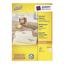 AVERY Etiquettes blanches universelles QuickPeel,105 x 42,3 mm