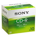 SONY® CD- R, tot 48x, 700 MB/ 80 min.